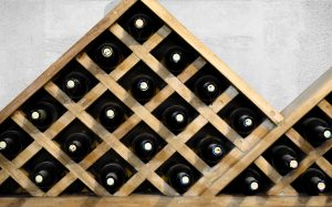 Wine Bottles Display Background for Howling Wolves Wines